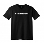 #TellMichael Black V-Neck T-Shirt (available for pre-sale)